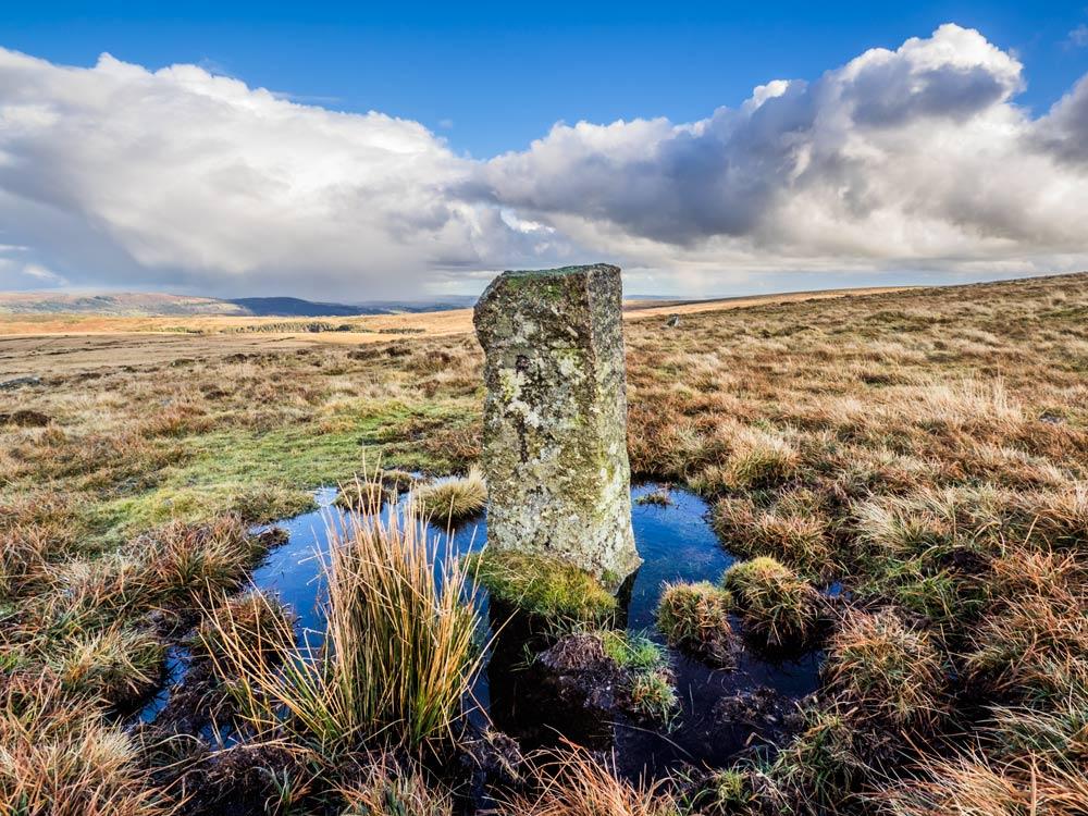 PUDC-Boundary-Stone,-Holne-Moor,-No.16-(406-m)1