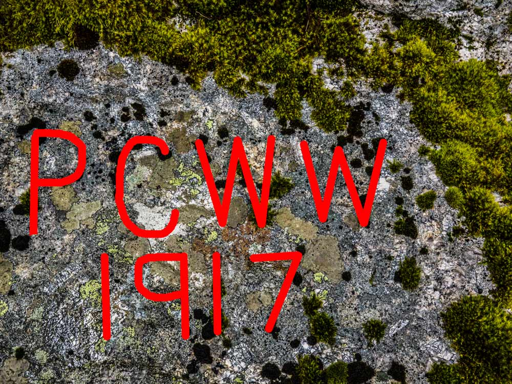PCWW-Marker,-Granite,-No.18,-1917-Inscription-on-Tor-(516-m)_red-letters