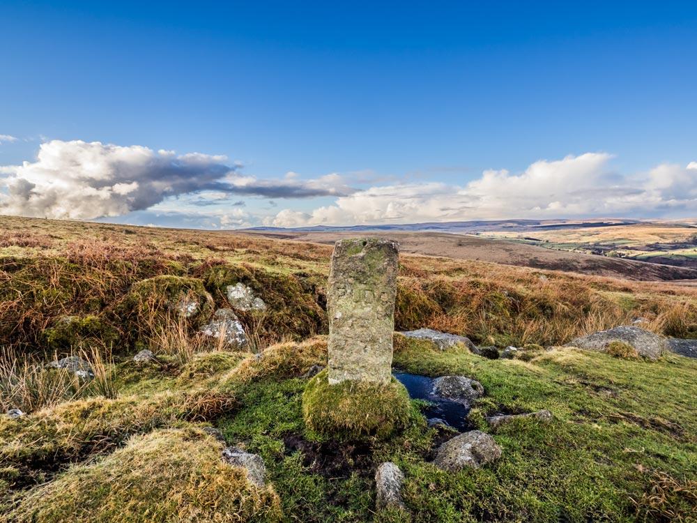 PUDC-Boundary-Stone,-Holne-Moor,-No.18-(448-m)1