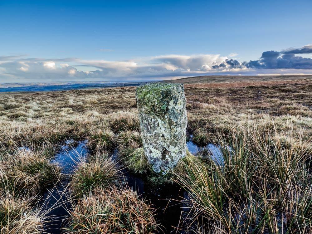 PUDC-Boundary-Stone,-Holne-Moor,-No.23-(472-m)1
