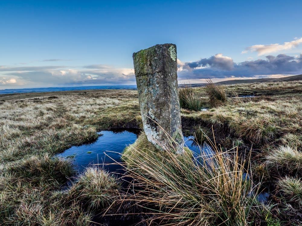 PUDC-Boundary-Stone,-Holne-Moor,-No.27-(434-m)1