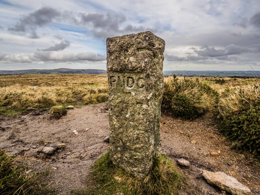 PUDC-Boundary-Stone,-Holne-Moor,-No.38-(350-m)1