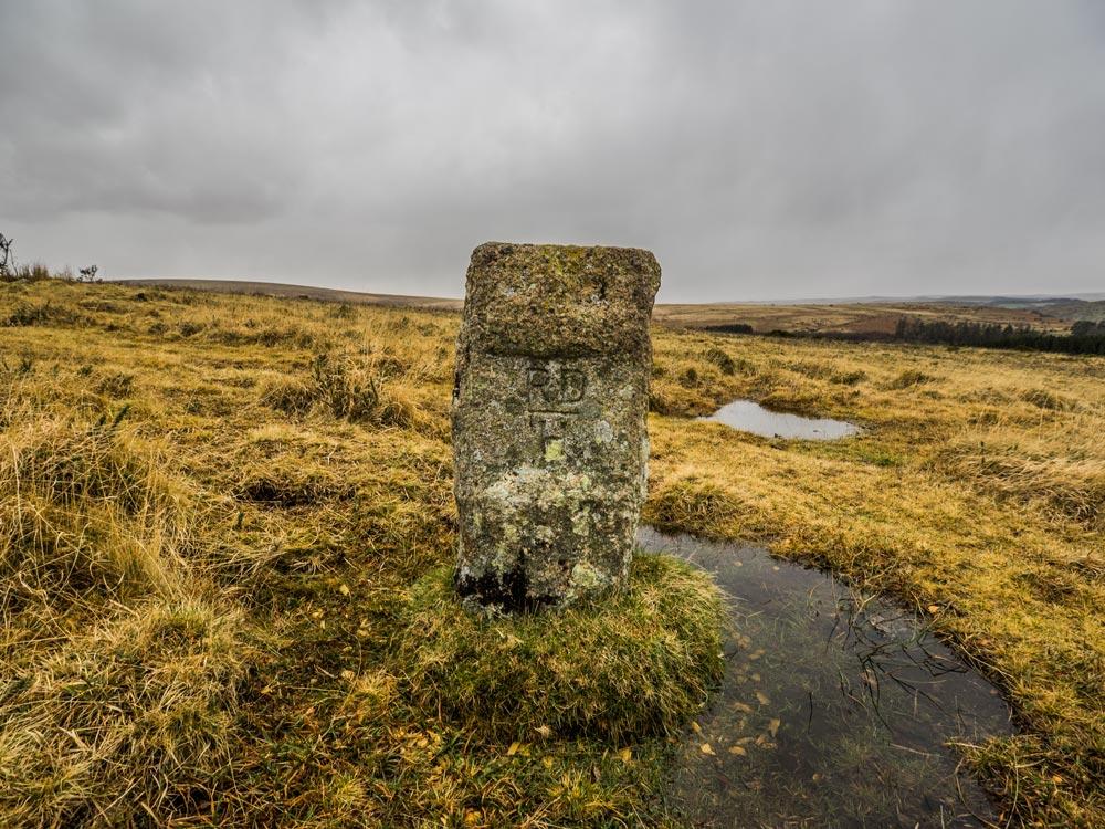 PUDC-Boundary-Stone,-Holne-Moor,-No.42-(330-m)1